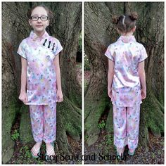 Stacy Sews and Schools: Blog with Friends on the Go - DIY Vacation Pajamas - Mandarin Style