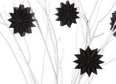 Pleats -New series 2013 12 point folded black paper star.