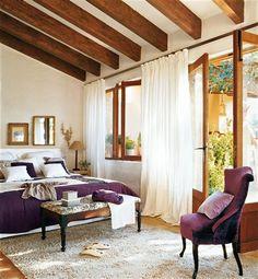 Home Design Decor, Cottage Design, House Design, Interior Design, Home Decor, Spanish Bedroom, Hacienda Style Homes, Spanish Interior, Old Stone Houses