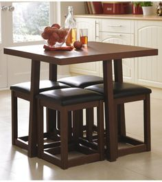 All Tucked In Hans Olsen's Super Spacesaving Dining Set  Dining Entrancing Space Saver Dining Room Table Decorating Inspiration