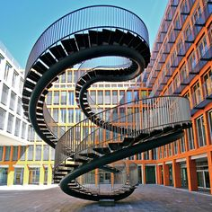 The Infinite Staircase by Olafur Eliasson. Installed at the @KPMG office in Munich, Germany.