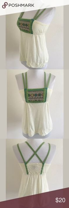 Free People tank SKU: SD14375  Length Shoulder To Hem: 22 Bust: 37 Waist: 24.5 Fabric Content: 100% cotton Free People Tops Camisoles