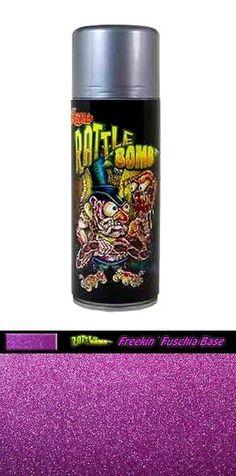 LIL DADDY ROTH RATTLE BOMB FREEKIN FUSCHIA BASE COAT HOT ROD METAL FLAKE #lildaddyroth