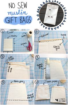 """Fantastic Photo bags material tutorials Thoughts , , """"Lines Across"""" No Sew Muslin Gift Bags Hengying Canvas Mini Cross Body Phone Bag Universal Mobile Phone Pouch Purse with Wrist Strap for Women Girls Children for iPhone Custom. Fabric Gift Bags, Muslin Bags, Fabric Crafts, Sewing Crafts, Sewing Projects, Scrap Fabric, Sewing Hacks, Sewing Tutorials, Pochette Diy"""