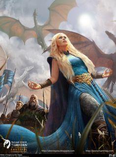 Daenerys Targaryen Dragon Princess Game of Thrones Braids Costume Cosplay Wig Daenerys Targaryen, Khaleesi, Art Game Of Thrones, Dragon Medieval, Medieval Hair, Jon Schnee, Game Of Trones, My Champion, My Sun And Stars