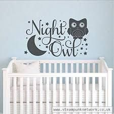 Night Owl Custom Wall Decal - Wall Sticker, Mural, & Decal Designs at Wall Sticker Outlet Wall Decor Lights, Kids Wall Decor, Baby Room Wall Decals, Wall Stickers, Vintage Retro Bedrooms, Wallpaper Decor, Wall Art Quotes, Custom Wall, Baby Design