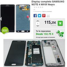 Reparacion lcd Samsung Galaxy Note 4 N910f.  MOVILCONSOLAS SL Ronda de San Agustín 63 A-1 41400 Écija Sevilla Tfno.: 95 483 03 05 - 680 21 04 05 (Whatsapp)  info@movilconsolas.com