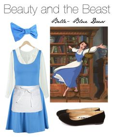 """""""Create Your Costume"""" by iidoubletakeii ❤ liked on Polyvore featuring New Look, Chef Works, Disney, Charlotte Russe, Halloween, disney, belle, Costume and BeautyandtheBeast"""