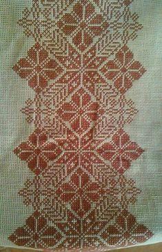 Cross Stitch Borders, Cross Stitch Flowers, Cross Stitch Charts, Cross Stitch Designs, Cross Stitch Embroidery, Cross Stitch Patterns, Hand Embroidery Design Patterns, Sewing Patterns, Palestinian Embroidery