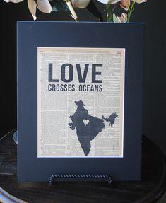 Love Crosses Oceans India  Vintage Adoption by RedeemedTreasures, $15.00
