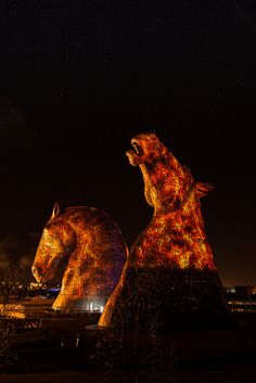 Kelpies on fire | by Edinburgh & Beyond Photography
