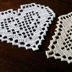 Filet crochet heart Valentine's day woman present Gift by MyWealth