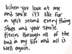 i have one person who does this to me ♥