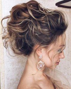 Ulyana Aster Romantic Long Bridal Wedding Hairstyles_09 ❤ See more: http://www.deerpearlflowers.com/romantic-bridal-wedding-hairstyles/2/