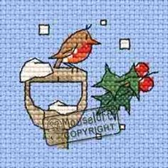 Little Winter Robin Card Cross Stitch Kit: Cross stitch (Mouseloft, 014-J34stl)