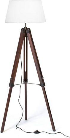 Stehleuchte, Brilliant, 1 flammig: Moderne Stehleuchte, 1flg. ein echter Blickfang in jeder Wohnung aufgrund der Optik und dem Materialmix: Metall, Holz und Textil.