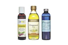 "An Oil's Promises, From Cooking to Cosmetics - The market for grapeseed oil as a cosmetic is booming. Aura Cacia, a skin-care, grapeseed oil from Frontier Natural Products Co-op Inc. that sells for $4.99 for four ounces, has an ""excellent balance of skin supporting compounds,"" such as oleic and linoleic acids, according to the Norway, Iowa, company's website."