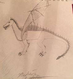 Halloween dragon-by: Madison Latella