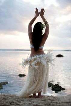 She does tahitian dance and sometimes gets to perform. She is very passionate about it and even teaches some younger girls that are clients at the restaurant she works how to dance Tahitian.