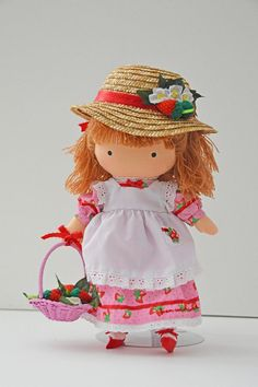 Rare+Joan+Walsh+Anglund+Strawberry+Cloth+Doll+by+SunsetGurlVintage,+$30.00