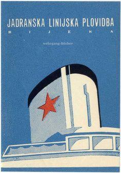 Kreuzfahrt, Jadranska linijska plovidba, Adria-Linie, Kofferaufkleber um 1930 | eBay