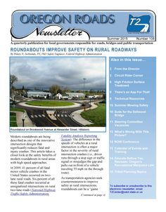 Oregon roads newsletter, by the Oregon Technology Transfer Center