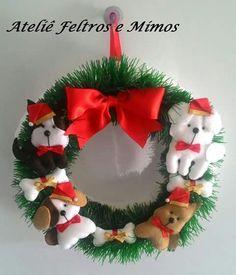Guirlanda de cachorrinhos em feltro; dog felt christmas