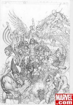 UNCANNY X-MEN #500 cover | Michael Turner
