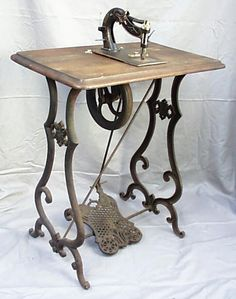 Rare 1860's Patent Williams & Orvis Treadle Sewing Machine