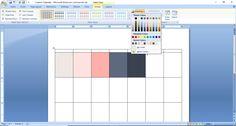 How to Create a Custom Calendar in Word - Calyx & Corolla Custom Calendar, Diy Calendar, Organizing Paperwork, Organization, Create A Calendar, Time Management, Words, Purpose, Design