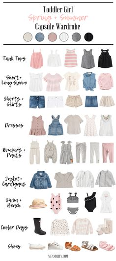 ebf5ee0be A perfect capsule wardrobe for your toddler girl this spring and summer!  All the clothes