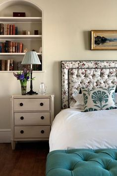 Main Bedroom Bed - English Garden Square House