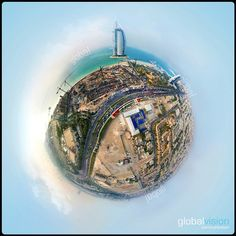 The exclusive view from the sky over the world's only 7 star hotel Burj Al Arab, Aerial View, Dubai, Christmas Bulbs, Tours, Sky, Holiday Decor, World, Amazing