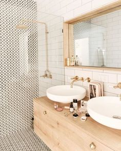 bathroom inspiration modern bathroom style inspiration Tips For Bathroom Design You might be buildin Feminine Bathroom, Minimal Bathroom, Small Bathroom, Bathroom Wall, Neutral Bathroom, Washroom, Boho Bathroom, Bathroom Modern, Remodel Bathroom