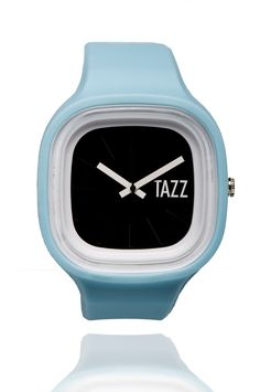 Blue Wave (black face) - TAZZ Transformer Watch .. Interchangeable watches. Buy one today for $35 at TAZZwatches.com #whatsyourcolor