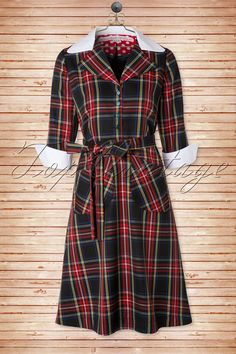 60s Molly A-line Tartan Dress
