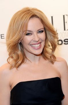 Pin for Later: 25 Springtime Blonde Shades to Show Your Hairdresser Kylie Minogue Kylie is a colour chameleon, but this warm strawberry blonde is one of her best looks. We've loved seeing her sport the honey hue on The Voice.
