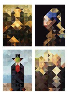 repixed / art by Wandson Lisboa, via Behance Abstract Portrait, Abstract Art, Ap Studio Art, Famous Artwork, Simple Illustration, Identity Art, Teaching Art, Art Studios, Art Boards