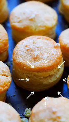 Biscuits - the best homemade biscuits recipe with high, buttery, flaky and crumbly layers. Easy recipe with three ingredients only. Real Food Recipes, Sweet Recipes, Dessert Recipes, Cooking Recipes, Bread Recipes, Appetizer Recipes, Best Chicken Strip Recipe, Chicken Tender Recipes, Homemade Biscuits Recipe