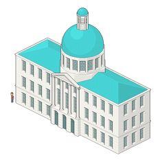 Create an Isometric Pixel Art City Hall in Adobe Photoshop