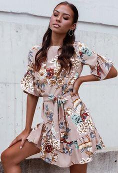 fashionable floral dress