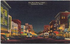 East Main St in Galesburg President Ronald Reagan's father worked at O.T. Johnsons
