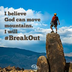 When you face giant obstacles in your own life, don't become discouraged. That adversity could be the very thing God will use to help you promote you! We want to know your #BreakOut moment. Share it with us: http://b.osteen.co/breakoutcontest  Joel Osteen Ministries