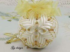 Gold dream Christmas ornament patchwork ornament xmas by Gydesi