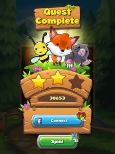 Forest Home | Quest Results| UI, HUD, User Interface, Game Art, GUI, iOS, Apps, Games, Grahic Desgin, Puzzle Game, Maze Games, Brain Games | www.girlvsgui.com