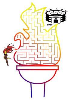 #puzzel #doolhof #olympische-spelen #vlam