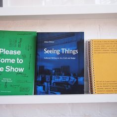 'Seeing Things: Collected writing on art, craft and design' by Alison Britton, one of today's leading ceramicists and a prolific critical writer. Published by the excellent @occasionalpapers. Available in person or online at shop.londonbookarts.org