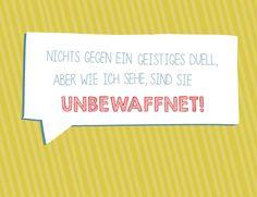 Nichts gegen ein geistiges Duell – Postkarte von Frieda-Werkstattladen auf DaWanda.com
