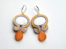 Ohrringe soutache Orange Drop