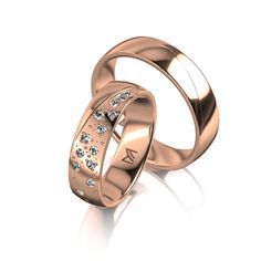 MEISTER Wedding-Ring SYMBOLICS Twinset 106 - wedding-rings redgold | MEISTER